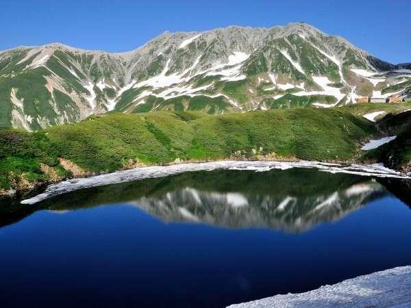 初夏の立山とみくりが池